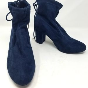 Ashley Stewart Teal Blue Ankle Boots 9 Wide